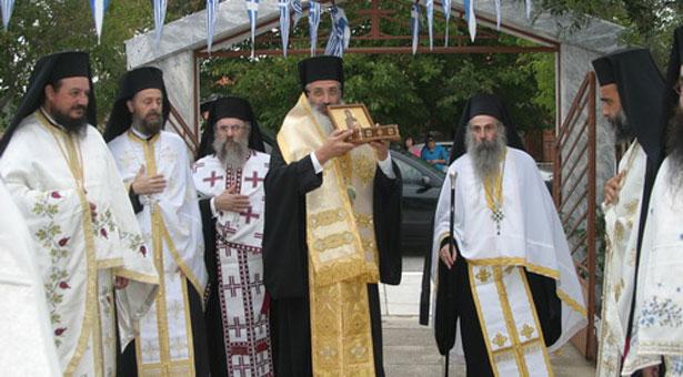 Η υποδοχή ιερού λειψάνου της Οσίας Σοφίας από τον Πόντο στην Νίψα