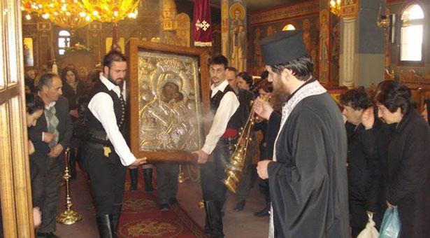 Οι Πόντιοι τίμησαν την Ιερή Εικόνα της Παναγίας Ζιδανιώτισσας