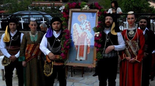 Η Εύξεινος Λέσχη Τρικάλων τίμησε τον Άγιο Φωκά εκ Σινώπης Πόντου