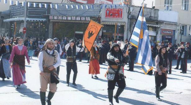 Στην παρέλαση της 28ης Οκτωβρίου με τον Σύλλογο Ποντίων Ξάνθης