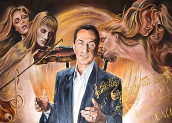 Πίνακας στο σαλόνι του Λευτέρη Πανταζή, ζωγραφισμένος από Πόντια ζωγράφο (φωτ.: Β. Τσενκελίδης)