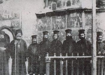 Ο ηγούμενος και μοναχοί της Παναγίας Σουμελά, το 1923 (πηγή: ozhanozturk.com)