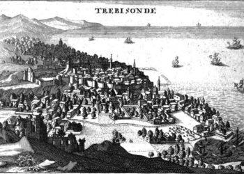 Απεικόνιση της Τραπεζούντας στο έργο του Ζοζέφ Πιτόν ντε Τουρνεφόρ  «Relation d'un voyage du Levant» (1718)