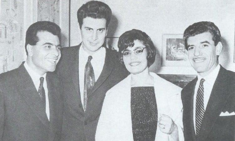 Με τον Στέλιο Καζαντζίδη και τη Μαρινέλλα