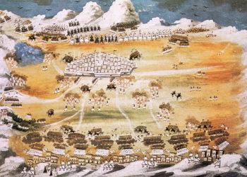 «Σκηνή από την Ελληνική Επανάσταση του 1821». Πίνακας του Παναγιώτη Ζωγράφου με την καθοδήγηση του Μακρυγιάννη (πηγή: Wikipedia)