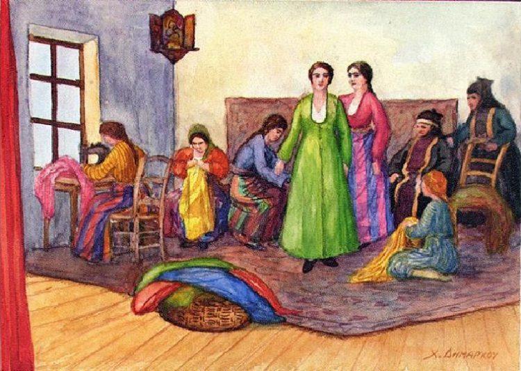 Σκίτσο του Χρ. Δημάρχου (αρχείο ΕΠΜ)