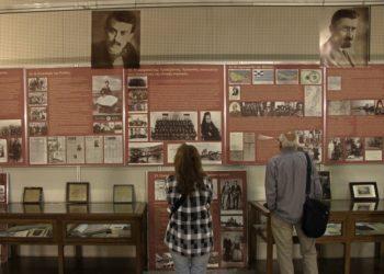 Έργα και ντοκουμέντα για τη Γενοκτονία των Ποντίων σε παλαιότερη έκθεση του Κωνσταντίνου Φωτιάδη (φωτ.: ΑΠΕ-ΜΠΕ / Βάλια Καρπούζη)