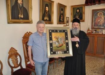 Κειμήλια και μια εικόνα από την Αργυρούπολη του Πόντου δωρεά στη Μητρόπολη Δράμας
