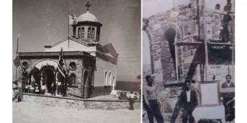 Μικρασιάτες πρόσφυγες χτίζουν την Αγία Παρασκευή στο Καστέλλο Χίου