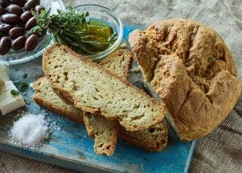 Εύκολο ψωμί, χωρίς μαγιά και χωρίς ζύμωμα