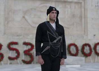 Χρίστος Παπαδόπουλος: Πόντιος Εύζωνας στην αλλαγή φρουράς για τα 101 χρόνια από τη Γενοκτονία των Ελλήνων του Πόντου (φωτο)