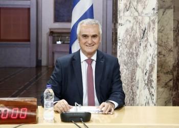 Ο πρόεδρος της Ειδικής Επιτροπής Ελληνισμού της Διασποράς, βουλευτής Σάββας Αναστασιάδης (φωτ.: ΑΠΕ-ΜΠΕ / Αλέξανδρος Βλάχος)