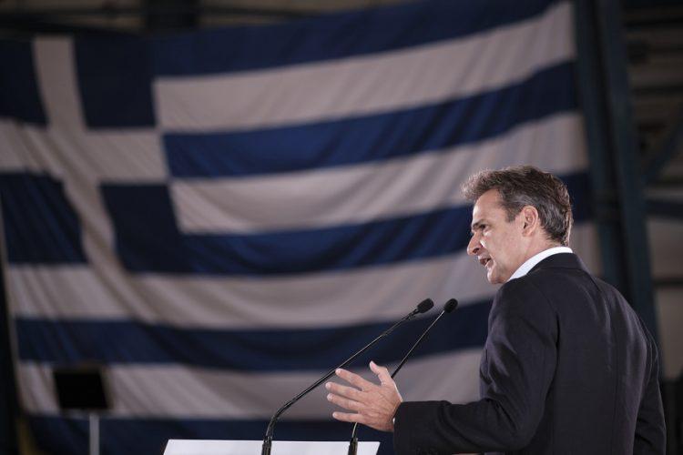 Ο Κυριάκος Μητσοτάκης τη στιγμή της άφιξής του στη Σύνοδο Κορυφής, του Ιανουαρίου, στις Βρυξέλλες (φωτ.: EPA / Yves Herman / Pool)