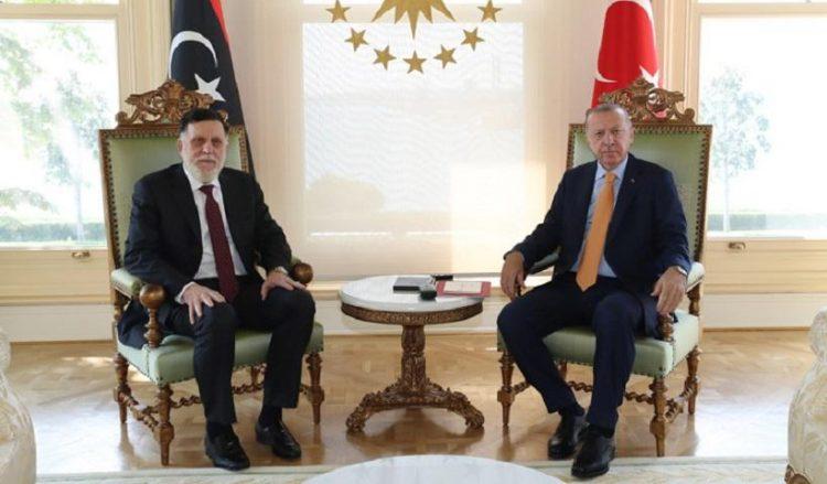 Φαγέζ αλ Σάρατζ και Ρετζέπ Ταγίπ Ερντογάν στην Άγκυρα (φωτ.: Προεδρία της Δημοκρατίας της Τουρκίας)