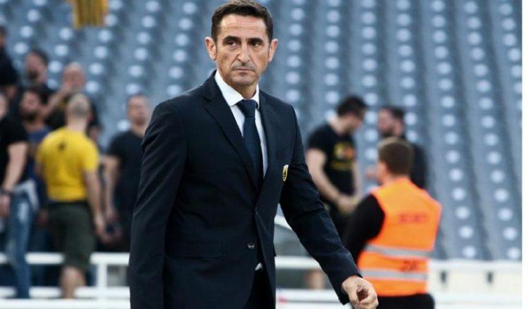 Ο Μανόλο Χιμένεθ σε παλαιότερο στιγμιότυπο του 77ου τελικού ΠΑΟΚ-ΑΕΚ, στο Κύπελλο Ελλάδος, τον Μάιο του 2019 (φωτ.: ΑΠΕ-ΜΠΕ/ Γεωργία Παναγοπούλου)