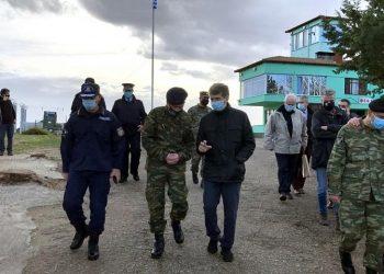 Ο Μιχάλης Χρυσοχοΐδης κατά τη διάρκεια της επίσκεψής του στον Έβρο (φωτ.:  Υπουργείο Προστασίας του Πολίτη)