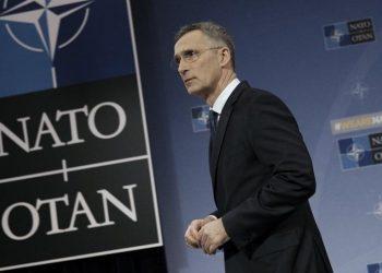 Γενς Στόλτενμπεργκ, γενικός γραμματέας του NATO (φωτ.: EPA / Olivier Hoslet)