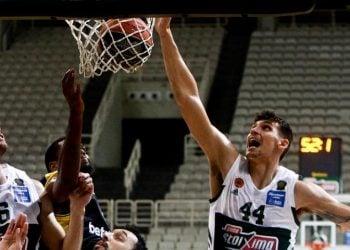 Εικόνα από το Παναθηναϊκός - ΑΕΚ για την 11η αγωνιστική του πρωταθλήματος της Basket League (φωτ.: ΑΠΕ-ΜΠΕ / Γεωργία Παναγοπούλου)