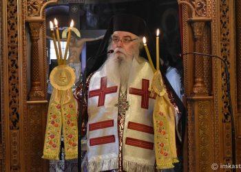 Ο μητροπολίτης Σεραφείμ (φωτ.: Ιερά Μητρόπολη Καστοριάς)
