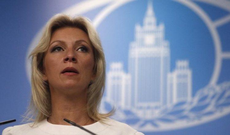 Η εκπρόσωπος του υπουργείου Εξωτερικών της Ρωσίας Μαρία Ζαχάροβα (φωτ.: EPA / Maxim Shipenkov)