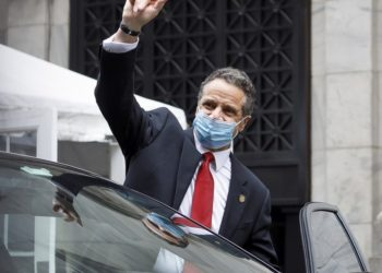 Ο κυβερνήτης της Νέας Υόρκης Άντριου Κουόμο (φωτ.: EPA / JUSTIN LANE)