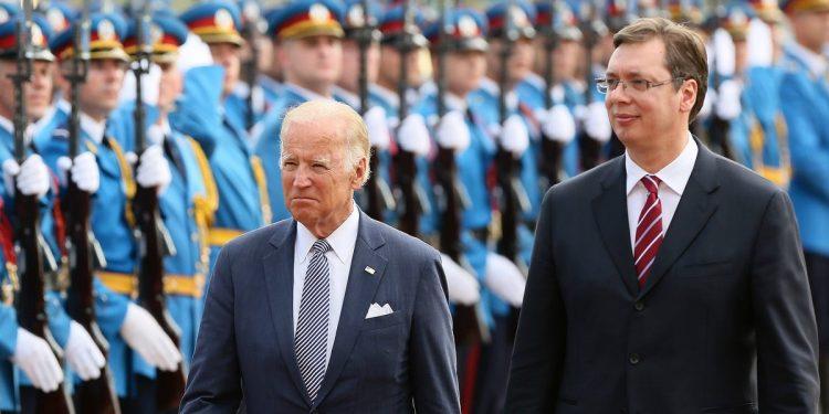 Στιγμιότυπο από προηγούμενη επίσκεψη του Τζο Μπάιντεν στη Σερβία (φωτ.: ΑΠΕ-ΜΠΕ / Reuters)