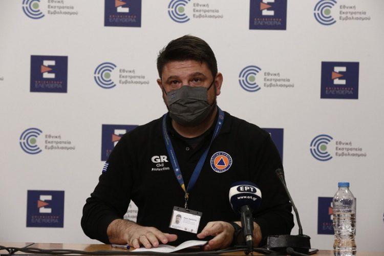 Ο υφυπουργός Πολιτικής Προστασίας και Διαχείρισης Κρίσεων Νίκος Χαρδαλιάς (φωτ.: ΑΠΕ-ΜΠΕ / Αλέξανδρος Βλάχος)