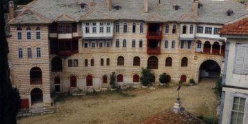 Εικόνα από τμήμα της Μονής Χιλανδραρίου στο Άγιον Όρος (φωτ. αρχείου: ΑΠΕ-ΜΠΕ / ΚΕΔΑΚ)