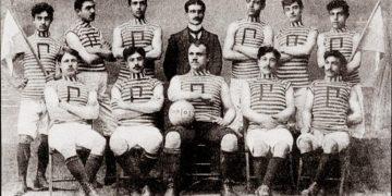 Φωτογραφία της ποδοσφαιρικής ομάδας του Κολεγίου «Ανατόλια»