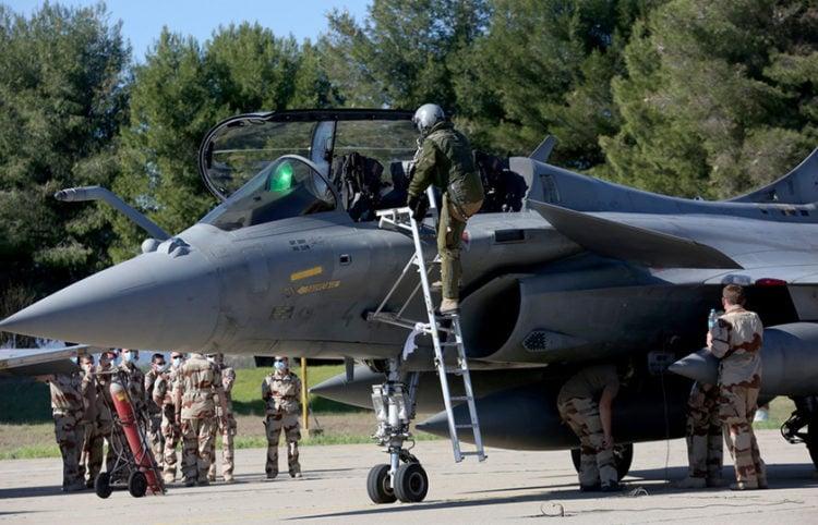 Γαλλικό μαχητικό αεροσκάφος Rafale που συμμετείχε στην άσκηση «Σκύρος 2021»  (φωτ.: ΑΠΕ-ΜΠΕ / Ορέστης Παναγιώτου)