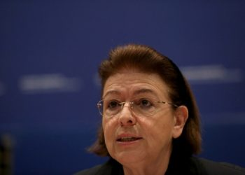 Η υπουργός Πολιτισμού Λίνα Μενδώνη (φωτ.: ΑΠΕ-ΜΠΕ / Ορέστης Παναγιώτου)