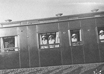 Η τσαρική οικογένεια στο ταξίδι με το τρένο, στη Ρωσία πριν το 1918 (φωτ.: theromanovfamily.com)