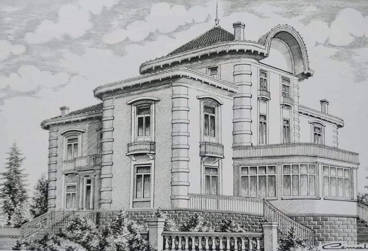 Σχέδιο της έπαυλης του τραπεζίτη Γρηγόρη Καπαγιαννίδη που έχει μετονομαστεί σε «έπαυλη Ατατούρκ» και αποτελεί ένα από τα σημαντικότερα αξιοθέατα της Τραπεζούντας