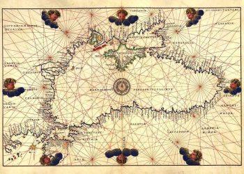 Ναυτιλιακός χάρτης του Εύξεινου Πόντου (Battista Agnese, 1544). Θεωρείται πολύ σημαντικός χάρτης, γιατί έχει όλα τα λιμάνια και τις σκάλες με ονομασίες της εποχής.