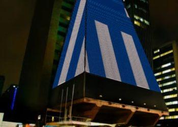 Το ένα από τα δύο κτήρια του Σάο Πάολο, στη Βραζιλία, που θα φωταγωγηθεί με τα ελληνικά χρώματα.