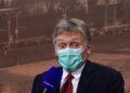 Ο εκπρόσωπος του Κρεμλίνου Ντμίτρι Πεσκόφ (φωτ.: EPA / MAXIM SHIPENKOV)