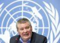 Ο εκτελεστικός  διευθυντής των εκτάκτων αναγκών του Παγκόσμιου Οργανισμού Υγείας (WHO) Μάικ Ράιαν κατά τη διάρκεια συνέντευξης Τύπου στη Γενεύη της Ελβετίας (φωτ.: EPA / SALVATORE DI NOLFI)