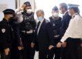 Ο πρώην πρόεδρος της Γαλλίας Νικολά Σαρκοζί, σήμερα, σε δικαστήριο του Παρισιού όπου δικάστηκε (φωτ.: EPA/IAN LANGSDON)