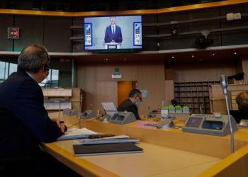 Παρέμβαση του Γενς Στόλτενμπεργκ στο Ευρωπαϊκό Κοινοβούλιο (φωτ.: EPA / Stephanie Lecocq)