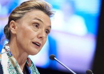 Η Γενική Γραμματέας του Συμβουλίου της Ευρώπης, Μαρίγια Πέιτσινοβιτς Μπούριτς (φωτ.: 112.international)