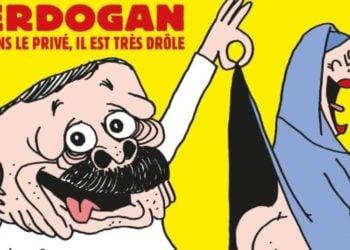 Το επίμαχο σκίτσο στο γαλλικό σατιρικό περιοδικό (φωτ.: Facebook/ Charlie Hebdo)