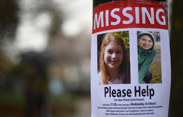 Αφίσα για την εξαφάνιση της Σάρας Έβεραρντ
