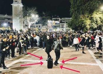 Φωτογραφία που έδωσε στη δημοσιότητα το Κέντρου Πολιτισμού Δήμου Ξάνθης, για να δείξει ότι έγινε προσπάθεια απομάκρυνσης του κόσμου