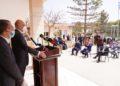Ο υπουργός Εξωτερικών Νίκος Δένδιας απευθύνει χαιρετισμό κατά τη διάρκεια της επίσκεψής του  σε Ελληνική Κοινότητα, στη Βεγγάζη, της Λιβύης (φωτ.:ΑΠΕ-ΜΠΕ / Γρ. Τύπου ΥΠΕΞ / Χάρης Ακριβιάδης)