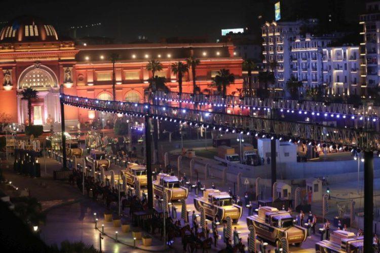 Η Χρυσή Παρέλαση των Φαραώ, στο Κάιρο της Αιγύπτου (φωτ.: EPA/KHALED ELFIQI)