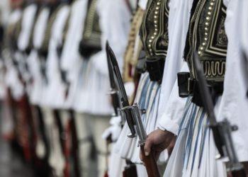 Το 9ο Τάγμα Ευζώνων, οι «μαύροι δαίμονες» του Βελισσαρίου, οι πορθητές του Μπιζανίου, οι ήρωες των Γιαννιτσών, του Λαχανά και του Δεμίρ Καπού (φωτ.: facebook.com/proedrikifrouraevzones)