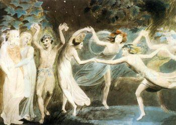 Όμπερον, Τιτάνια και Πουκ χορεύουν με τις νεράιδες, έργο του Γουίλιαμ Μπλέικ, το 1785 (φωτ.: fineartamerica.com)
