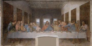 Ο Μυστικός Δείπνος του Λεονάρντο ντα Βίντσι, περίπου 1495-1498, τέμπερα σε γύψο, 460 εκ.× 880 εκ., Μιλάνο (φωτ.: el.wikipedia.org)
