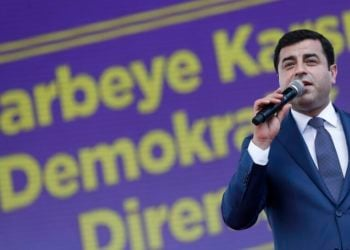 Ο Σελαχατίν Ντεμιρτάς (φωτ. αρχείου: ΑΠΕ-ΜΠΕ/ Sedat Suna)