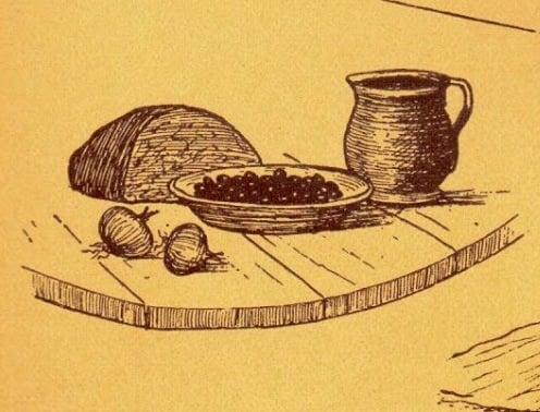 Εικόνα από το βιβλίο «Ελληνικός Πόντος – Μορφές και εικόνες ζωής», του Συλλόγου Ποντίων «Αργοναύται-Κομνηνοί» – Σκίτσο: Χρήστος Δημάρχου